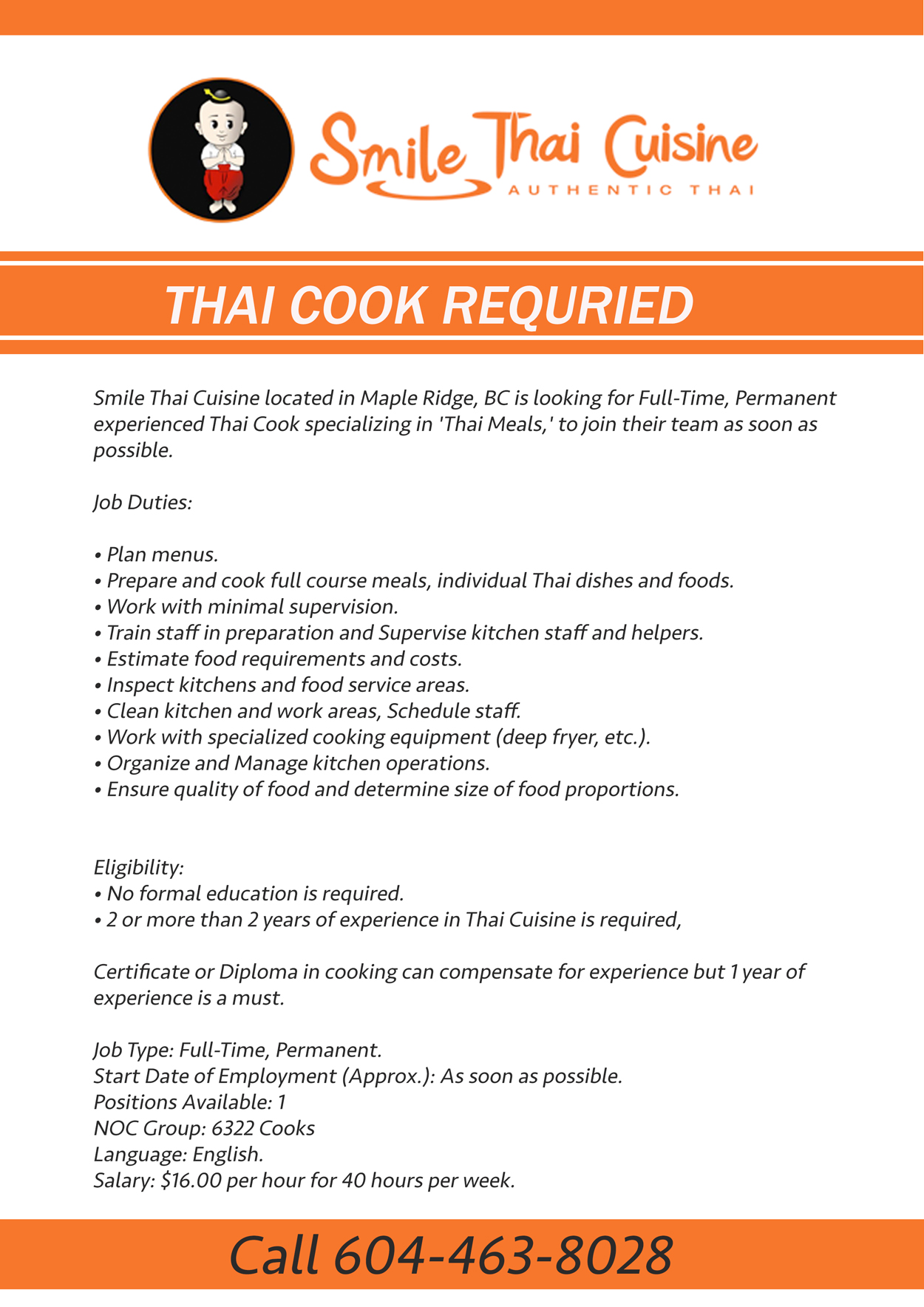jobs smile thai cuisine stc job